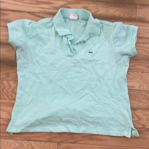 Lacoste mint green polo shirt size 40